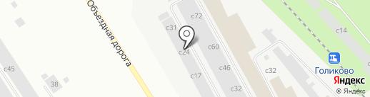 Желтые ворота на карте Норильска