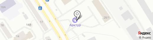 АЗС Арктур на карте Норильска