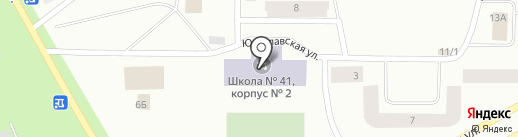 Средняя школа №41 на карте Норильска
