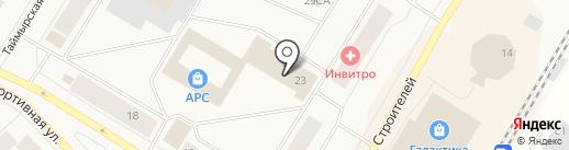 Ирбис на карте Норильска