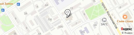 Сервис-Лайн на карте Черногорска