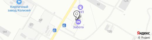 Социальная гостиница на карте Черногорска
