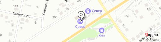 Север на карте Абакана