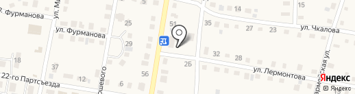 Магазин продуктов на ул. Лермонтова на карте Усть-Абакана