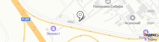 Абакан Уголь на карте Абакана