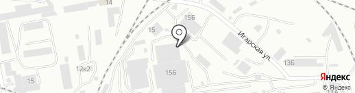 Пункт технического осмотра на карте Абакана