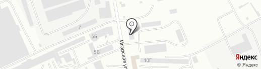 Саяны-Экспресс на карте Абакана