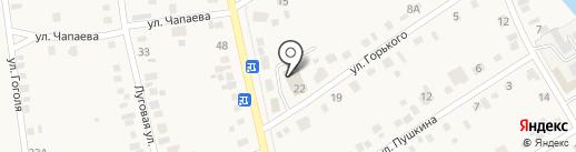 Автомойка на ул. Горького на карте Усть-Абакана