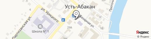 Славица на карте Усть-Абакана