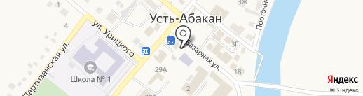 Киоск по продаже хлебобулочных изделий на карте Усть-Абакана