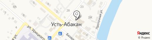 Тачанка на карте Усть-Абакана