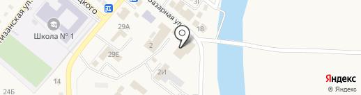 Базарный на карте Усть-Абакана