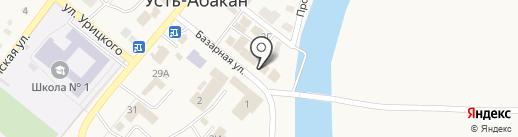 Акварель на карте Усть-Абакана