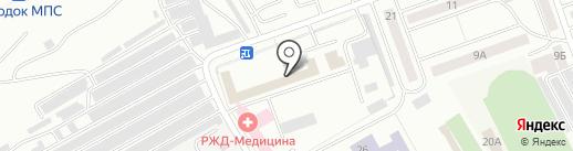 Отделенческая поликлиника ст. Абакан на карте Абакана