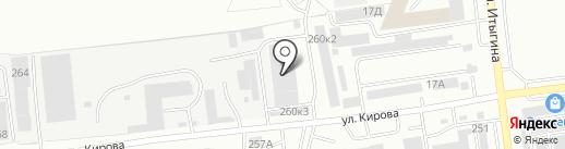 Автомаксимум на карте Абакана