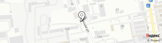 Установочный центр на Тувинской на карте Абакана
