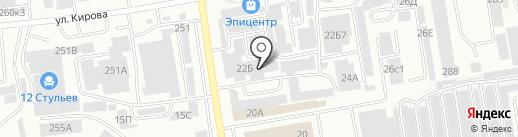 Темп на карте Абакана