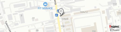 Ермак на карте Абакана