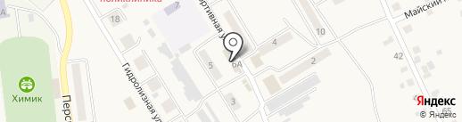 Киоск по продаже фруктов и овощей на карте Усть-Абакана
