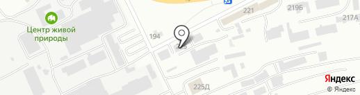 МаВР на карте Абакана
