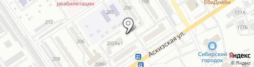 Мари на карте Абакана