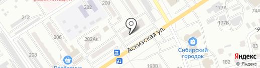 Фиеста на карте Абакана