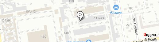 Завод Алешина на карте Абакана