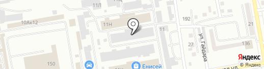 Учреждение централизованного обслуживания Министерства здравоохранения Республики Хакасия и подведомственных ему учреждений на карте Абакана