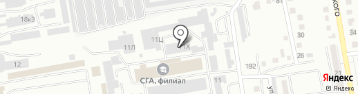 Светодиодный мир на карте Абакана