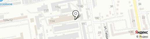 ЛЕГАТ на карте Абакана