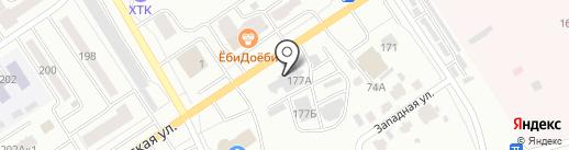 Авангард на карте Абакана