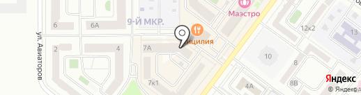 Магазин продуктов на ул. Торосова на карте Абакана