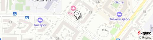 Букетто на карте Абакана