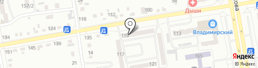Градус на карте Абакана
