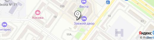 Палитра на карте Абакана