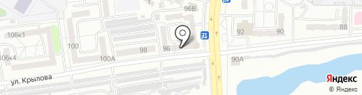 Аквамарин на карте Абакана