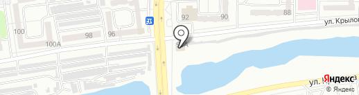 Магазин автоэмалей на ул. Крылова на карте Абакана