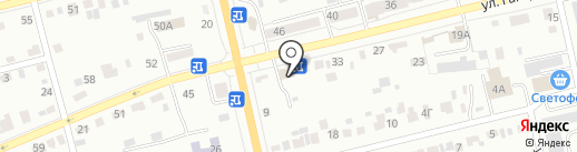 Квартиры на Гагарина на карте Абакана