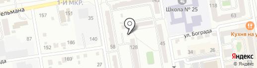 Вятич на карте Абакана