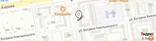 Янтарный на карте Абакана