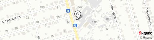 АвтоТон-19 на карте Абакана