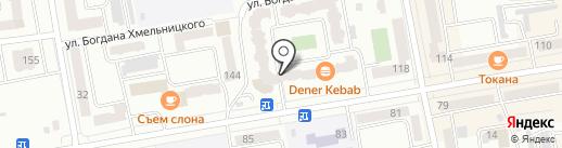 Клевер на карте Абакана