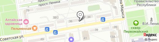 Шарур на карте Абакана
