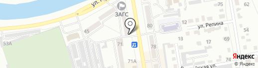 Май на карте Абакана