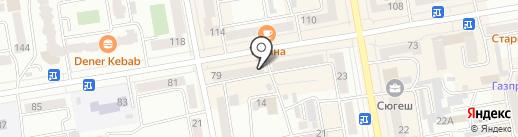 Ломбард-маркет на карте Абакана