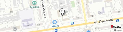 Банкомат, ВТБ 24 на карте Абакана