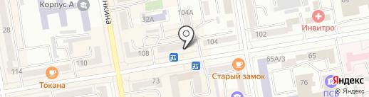 Шанталь на карте Абакана