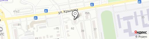 Магазин продуктов на ул. Вяткина на карте Абакана