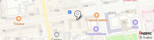 Батон на карте Абакана