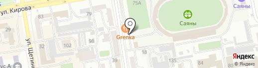 Сандра на карте Абакана